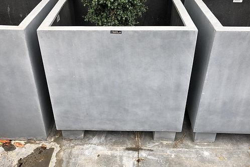 Fiber oliveplanter grijs 70x70x70