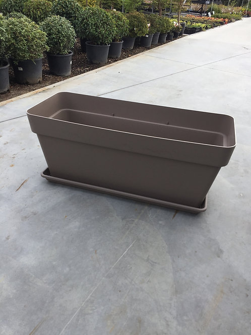Bloembak XL - Europlast + schotel - taupe