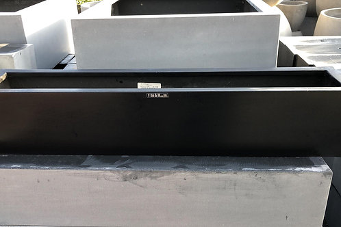 Fiber window box black 80x16x16