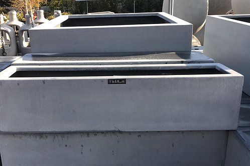 Fiber window box grey 65x16x16
