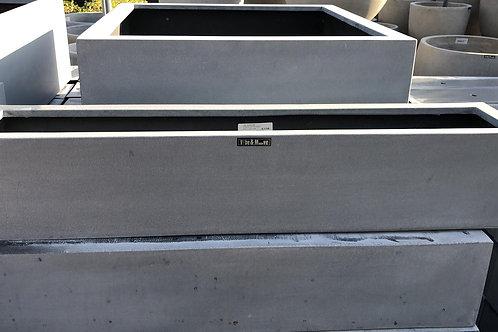 Fiber window box grey 80x16x16