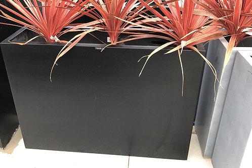 Fiber high flowerbox zwart 100x30x70