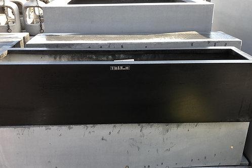 Fiber window box black 65x16x16