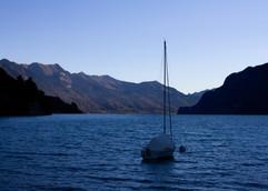 Sailboat on Lake Thun