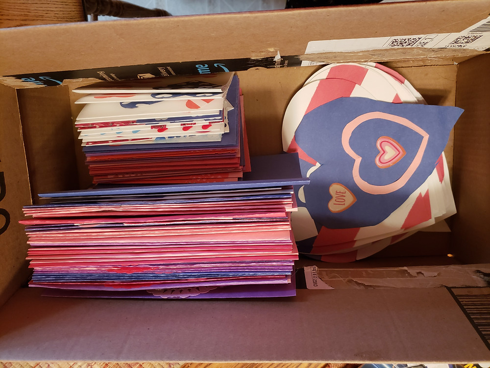 More stacks of valentines card. 50 more cards in a box.