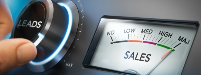 Bring leads to drive sales up, pictured by car radio
