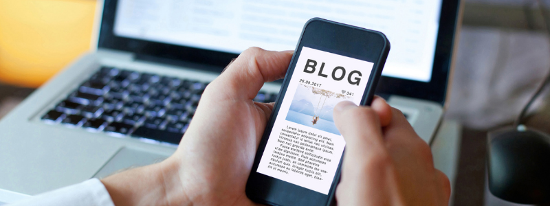 Open Blog page on Iphone | Business blog | Start a blog