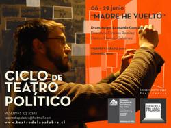 Afiche Ciclo de Teatro Político