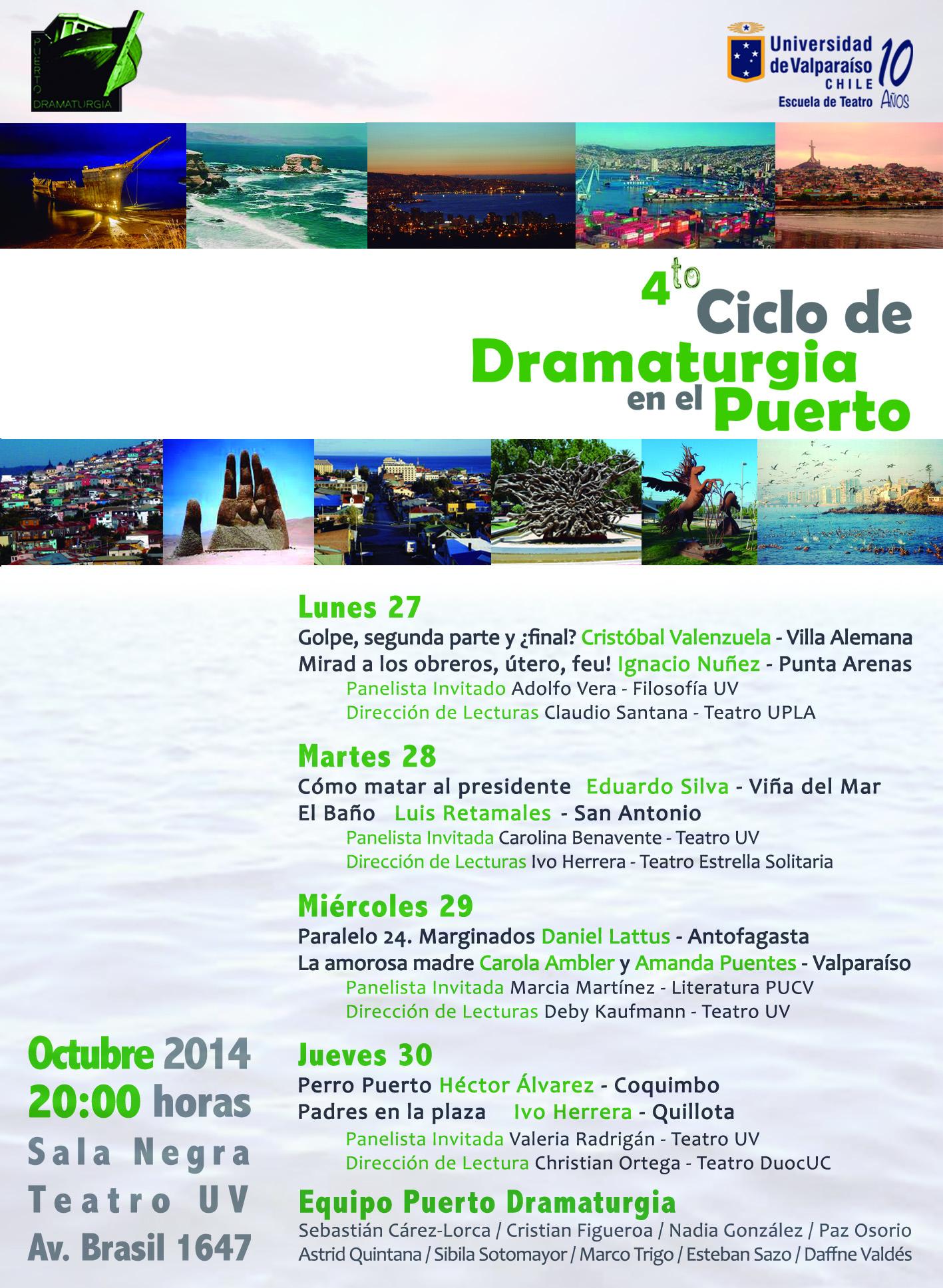Programa Puerto Dramaturgia 2014