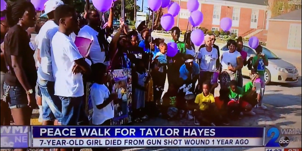 Forever Taylor Put Down The Guns Peace Walk for Taylor Hayes