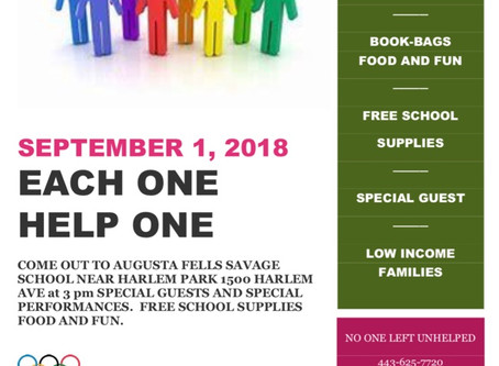 Special Events Free Back Packs September 1, 2018 3:00PM-7:00PM 1500 Harlem Ave free school supplies