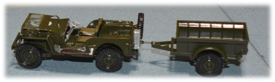Italeri Jeep Willys MB with trailer, 1:35