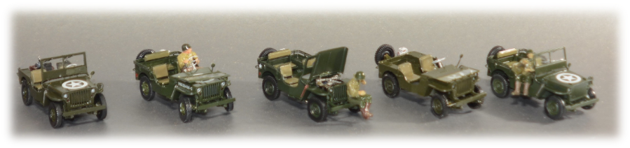 All Tamiya Jeeps; 1:35