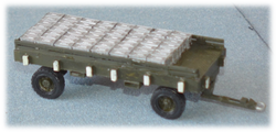 Utility trailer with ammo boxes; 1:35