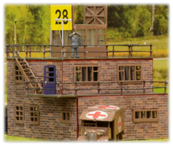 RAF Control Tower, highly modified, Airfix 1:76
