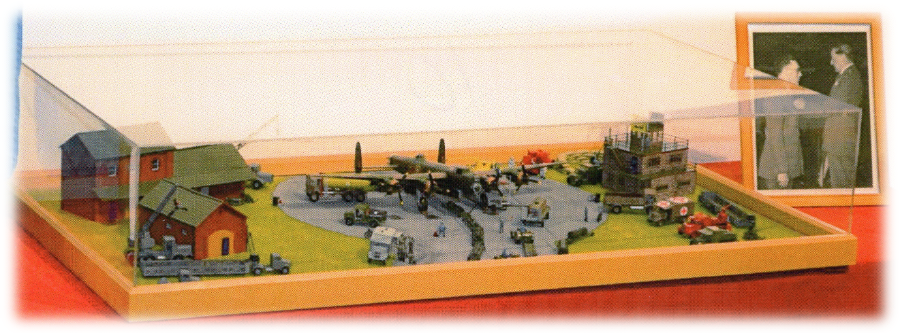 "Larger diorama (42"" x 24""), RAF Linton-on Ouse, 1:72."