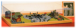 """Larger diorama (42"""" x 24""""), RAF Linton-on Ouse, 1:72."""