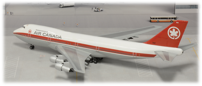 "Revell Boeing 747-100 Air Canada ""304"" flown by Clint Ward 1:144"