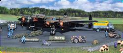2' x 2' diorama, RAF Linton-on Ouse, 1:72