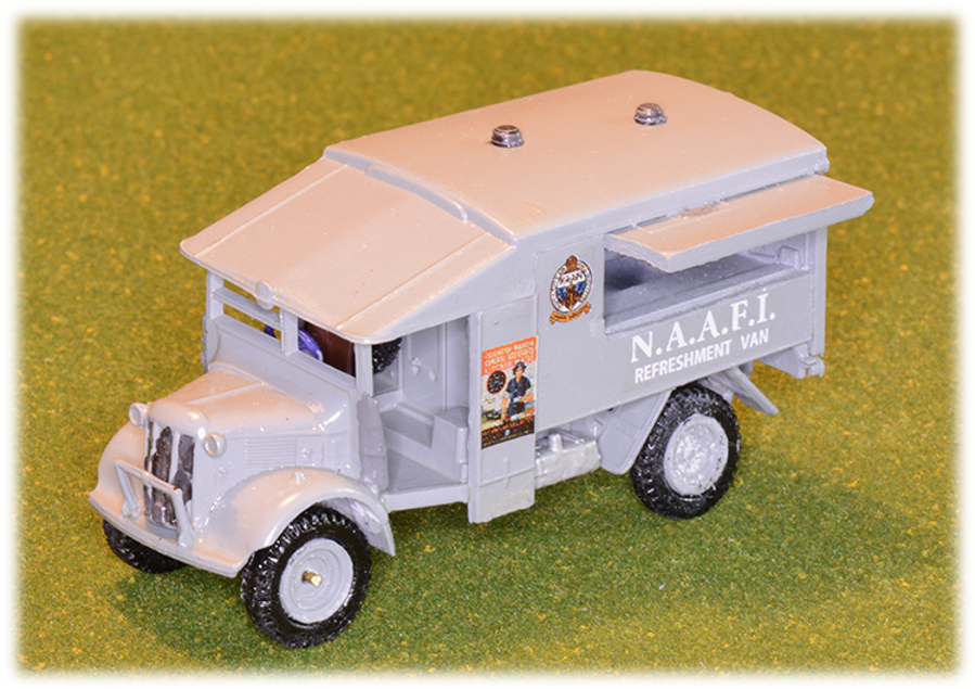 NAAFI Beverage Van, modified from Airfix Ambulance 1:76