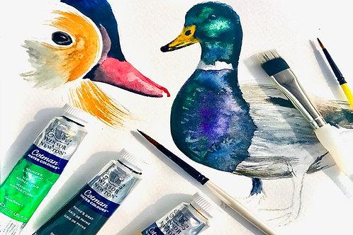 Family Watercolour Workshop 'Ducks & Geese' - Celebrating Autumn