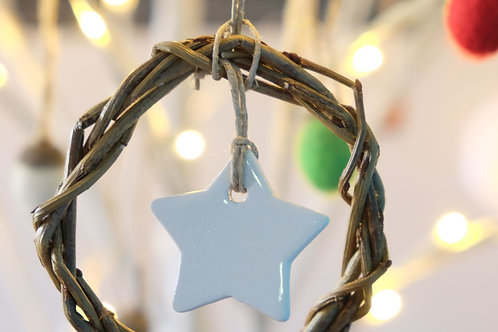 Ceramic Star Willow Decoration