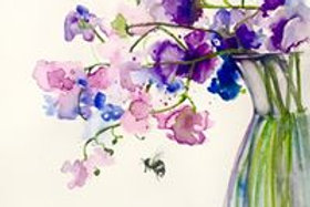 'Pick and Paint' Sweet Peas Watercolour Workshop