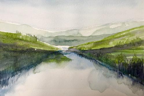 Mountain Lake Landscape Watercolour Workshop