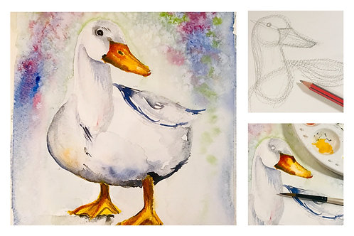 Ducks and Geese Watercolour Workshop - Celebrating Autumn