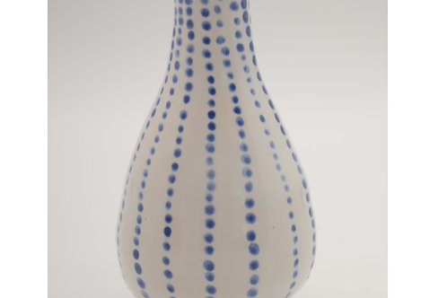 Spotty Blue & White Bud Vase