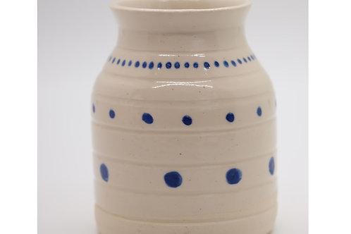 Spotty Blue & White Vase