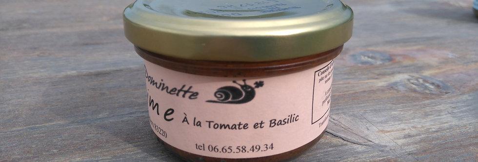 Escargot-time Tomate confite Basilic