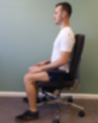 Sitting Positon deep tissue, sport and remedial massage therapy Bristol