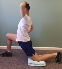 Hip Flexor Stretch deep tissue, sport and remedial massage therapy Bristol