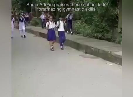Watch: Sadia Adnan praises these school kids for amazing gymnastic skills
