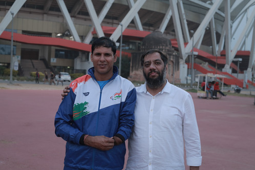 Adnan Safee with Devedra Jhajharia