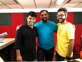 Adnan Safee producer at Nine Angle Production with RJ Naved and Pankit Narang, Radio Mirchi