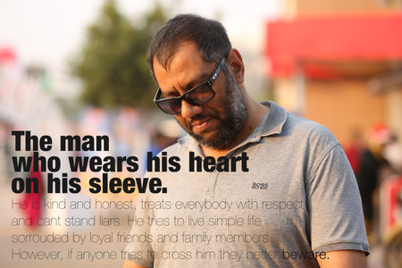 The man who wears his heart on his sleeve - Adnan Safee