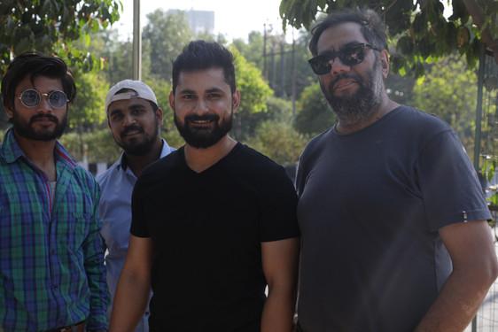 Adnan Safee, Executive Producer Nine Angle Productions with Sajid on RJ Naved's shoot