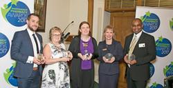 Terry Reid with Independant Pharmacy Award, Reid's Pharmacy