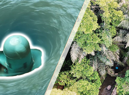 Turbulent Micro Hydro Plant in Green School Bali