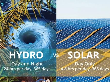 Micro Hydro Power Station Or Solar Panel Arrays?