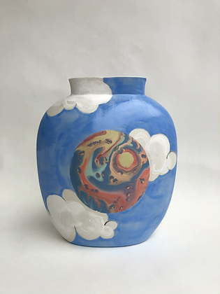 MADE TO ORDER Sky Pillow Vase