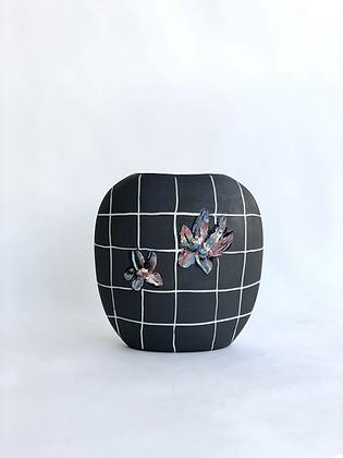 Black Floral Pillow Vase