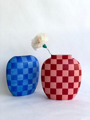 Checkered Pillow Vase