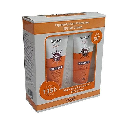 Dermoskin Be Bright Pigmentyl Güneş Koruyucu Spf 50+ Krem 75 ml - 2'LiDermoskin