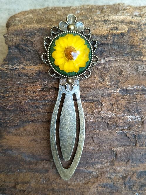 Wildflower antique bronze plated bookmark