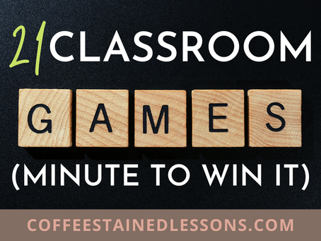 21 Classroom Games (Minute to Win It)