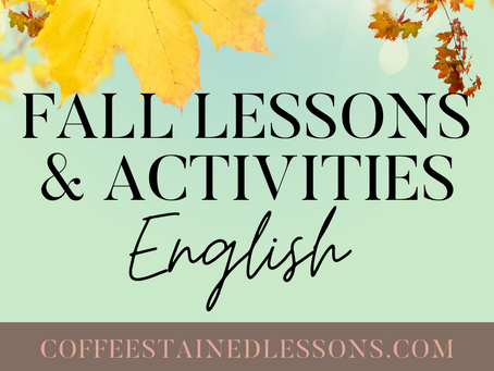 Fall Lessons & Activities for High School English