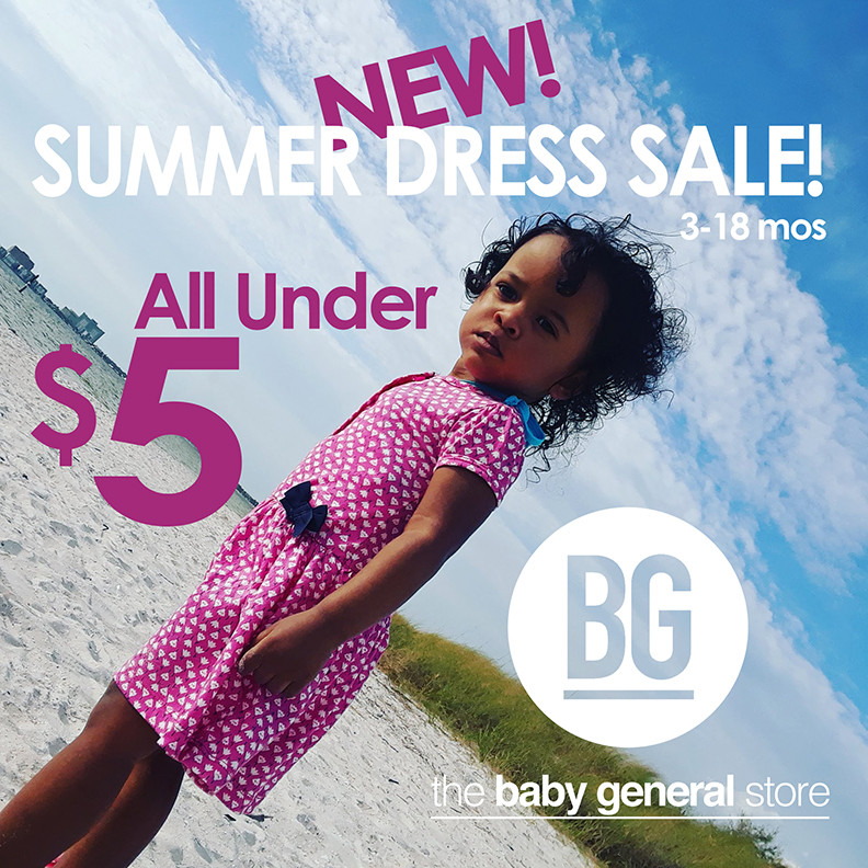 Shop new and quality used baby girls dresses for under $5. Everyday is a sale at Baby General!